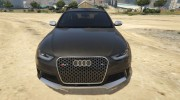 Audi RS4 Avant 2013 for GTA 5 miniature 8