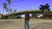 CJ в футболке (Bounce FM) for GTA San Andreas miniature 4