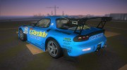 Mazda RX-7 FD3S RE Amemiya (Racing Car GReddy) for GTA Vice City miniature 4