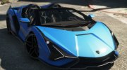 Lamborghini Sian Roadster for GTA 5 miniature 1