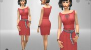 Romantic Nice Dress for Sims 4 miniature 2