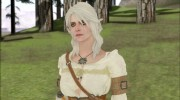 Ciri from Witcher 3 Retextured для GTA San Andreas миниатюра 2