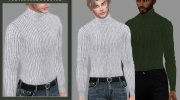 Victor Turtleneck Sweater for Sims 4 miniature 1