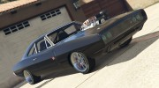1970 Dodge Charger for GTA 5 miniature 1