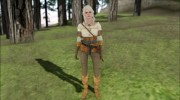 Ciri from Witcher 3 Retextured для GTA San Andreas миниатюра 3