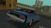 Dodge Charger 1968 RT 426 for GTA Vice City miniature 7