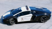 Police Lamborghini Aventador for GTA 5 miniature 4