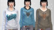 Winter Pullover for Sims 4 miniature 2