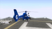 NYPD Eurocopter By SgtMartin_Riggs for GTA San Andreas miniature 4