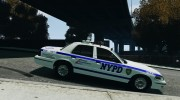 Ford Crown Victoria NYPD for GTA 4 miniature 5