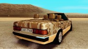 Mercedes-Benz 190E Army для GTA San Andreas миниатюра 4