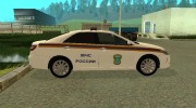 Toyota Camry МЧС for GTA San Andreas miniature 3