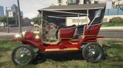 Ford T 1910 Passenger Open Touring Car for GTA 5 miniature 2