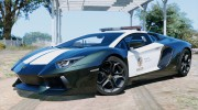 Police Lamborghini Aventador for GTA 5 miniature 1