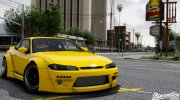 Nissan Silvia S15 Rocket Bunny 2JZ for GTA 5 miniature 1