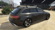 Audi RS4 Avant 2013 for GTA 5 miniature 3