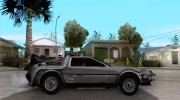 Crysis Delorean BTTF1 for GTA San Andreas miniature 5