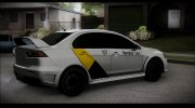 MITSUBISHI LANCER EVO X Яндекс Тахи for GTA San Andreas miniature 4