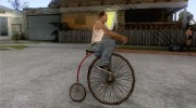 Penny-Farthing Ordinary Bicycle для GTA San Andreas миниатюра 5