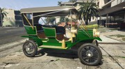 Ford T 1910 Passenger Open Touring Car for GTA 5 miniature 5