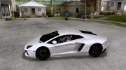 Покрасочные работы для Lamborghini Aventador LP700-4 2011 for GTA San Andreas miniature 2