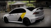 MITSUBISHI LANCER EVO X Яндекс Тахи for GTA San Andreas miniature 2