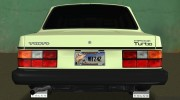 Volvo 242 Turbo Evolution for GTA Vice City miniature 6