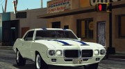 1969 Pontiac Firebird Trans Am Coupe (2337) для GTA San Andreas миниатюра 1