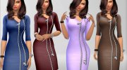 Zip Dress for Sims 4 miniature 4