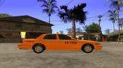 Ford Crown Victoria Taxi 2003 для GTA San Andreas миниатюра 5