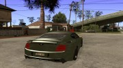 Bentley Continental GT Premier4509 2008 Final для GTA San Andreas миниатюра 4