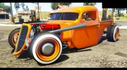 1936 Ford Pickup Hotrod Style for GTA 5 miniature 3