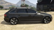 Audi RS4 Avant 2013 for GTA 5 miniature 6