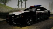 2012 Dodge Charger SRT8 Police interceptor LSPD для GTA San Andreas миниатюра 3