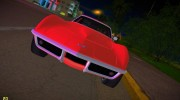 Chevrolet Corvette (C3) Stingray T-Top 1969 for GTA Vice City miniature 8