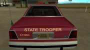 Ford LTD Crown Victoria 1991 Minnesota State Trooper for GTA San Andreas miniature 7