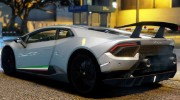 Lamborghini Huracan Performante 2016 for GTA 5 miniature 6