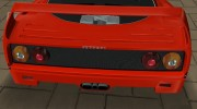 Ferrari F40 TT Black Revel for GTA Vice City miniature 6