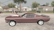 1966 Ford Mustang Fastback Chrome Edition for GTA San Andreas miniature 2