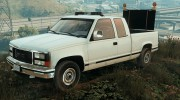 GMC Sierra 1992 (Construction Pickup with flashing orange lights) for GTA 5 miniature 1