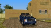 2002 Cadillac Escalde EXT (VC Style) for GTA Vice City miniature 3
