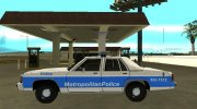 Ford LTD Crown Victoria 1991 Massachusetts Metro Police for GTA San Andreas miniature 5