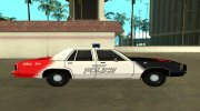 Ford LTD Crown Victoria 1991 Copley Police DARE black, white and red for GTA San Andreas miniature 6