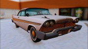 1958 Plymouth Fury для GTA San Andreas миниатюра 1