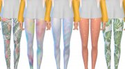 Pastel Themed Leggings for Sims 4 miniature 3