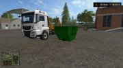 MAN skip truck with container (v1.0 Pummelboer) for Farming Simulator 2017 miniature 1