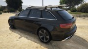 Audi RS4 Avant 2013 for GTA 5 miniature 4