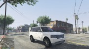 Range Rover Supercharged 2012 для GTA 5 миниатюра 7