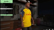 Футболка Arsenal Away Kit для Франклина for GTA 5 miniature 2
