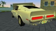 Shelby GT500KR 1968 for GTA Vice City miniature 5